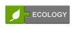 Puzzle-Button grün grau: Ecology
