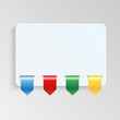 sheet of paper with multicolor labels.blank sheet of paper to wr