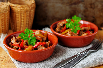 Mexican pork and capsicum stew