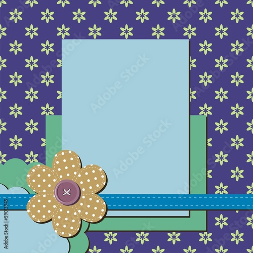 decor frame with flower