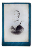 Antique Portrait of a little boy. Made ​​in a studio. Vintage