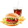 Hamburger with iced soda drink - 59014591