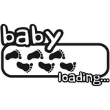 Baby Boy Loading Footprints Logo