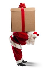 Santa Claus witha a big gift