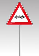 Bus Busse Kraftomnibus Omnibus Verkehrsschild Verkehrszeichen