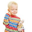 Kleines Kind mit Mittelohrentzündung