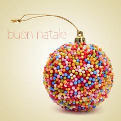 buon natale, merry christmas in italian