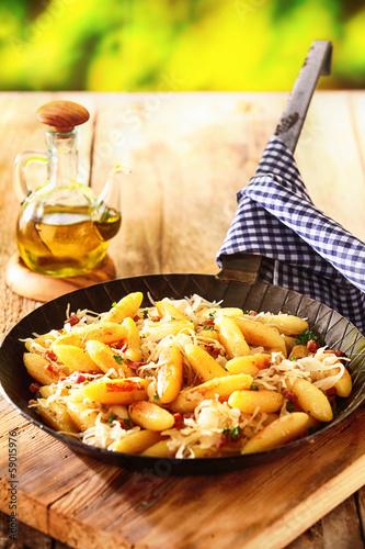 German noodles and finger-shaped potato dumplings - 59015976