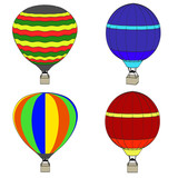 cartoon image of hot air balloon