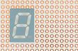Seven segment led single digit display on a copper breadboard