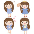 Cartoon Characters Cute Girl Illustration