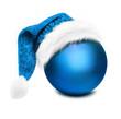 Blaue Christbaumkugel