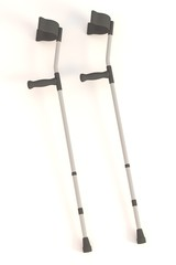 realistic 3d render of crutches