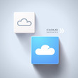 Cloud services concept. Eps10 vector