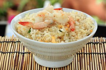 stir fried rice with shrimp