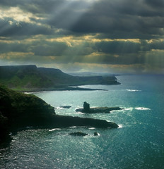 Landscape of Giant's Causeway, Northern Ireland, UNESCO WH Site