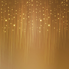 Starry golden background