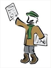 vendedor de prensa