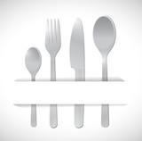 food utensils illustration design