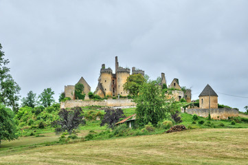 France, picturesque castle of Saint Vincent le Paluel