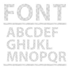 Abstract alphabet set. Font. Vector illustration.
