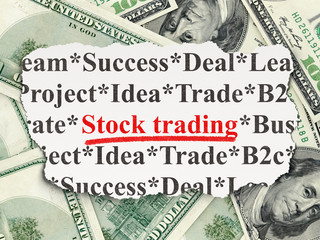 Business concept: Stock Trading on Money background