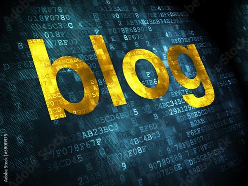 SEO web development concept: Blog on digital background
