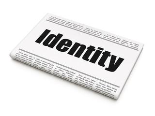 Security concept: newspaper headline Identity