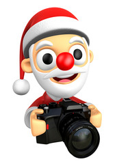 3D Santa characterto shoot the Big Camera toward the Right. 3D C