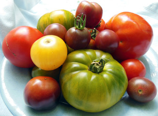 Heirloom tomatoes from garden