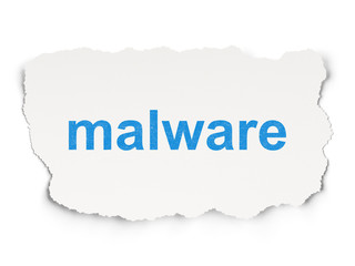 Security concept: Malware on Paper background