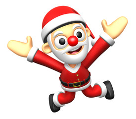 3D Santa character to be powerful and jumping. 3D Christmas Char