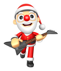 3D Santa has to be playing the Black electric guitar. 3D Christm