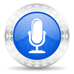 microphone christmas icon