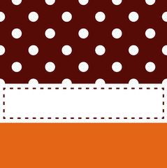 Thanksgiving retro frame with polka dots