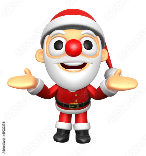 3D Santa mascot has been welcomed with both hands. 3D Christmas
