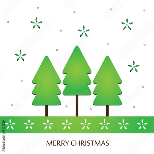 Stylish Christmas holiday design with handcraft theme