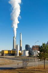 Entrance gate  of Duke Energy's coal fired  plant