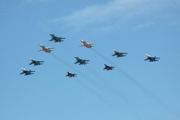 Group military planes