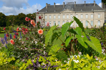 Flowers against the Fine Arts Museum of Limoges