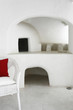 White interior of Cycladic cave style house