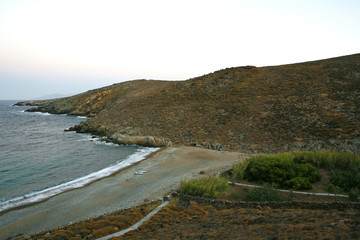 Deserted beach in Serifos island in Greece
