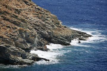 Rocky seaside cliff