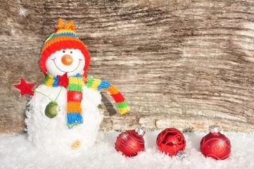Fröhlicher Schneemann-mit Freiraum