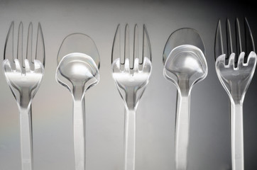 Spoon two, three forks