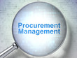 Finance concept: Procurement Management with optical glass