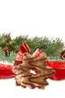 Weihnachtskekse Stern Schleife