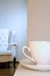 White china teacup