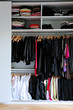 Organized clothes closet