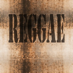 reggae word music abstract grunge background